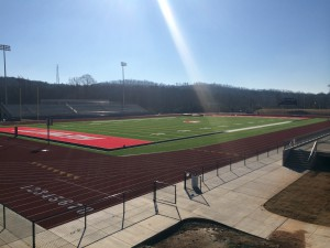 The track at Hewitt-Trussville Stadium file photo
