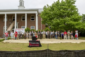 A scene from Thursday's groundbreaking ceremony photo by Ron Burkett