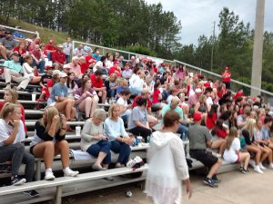 Hewitt fans traveled well to Hoover to support the Huskies. Photo by Chris Yow