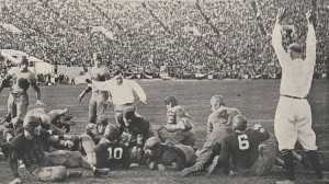 Alabama scores on a touchdown run by Pooley Hubert in the 1926 Rose Bowl.