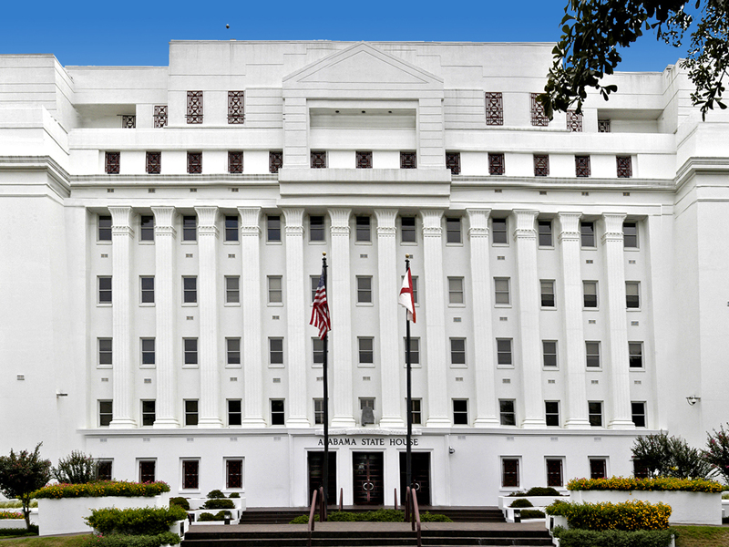 The Alabama State House.