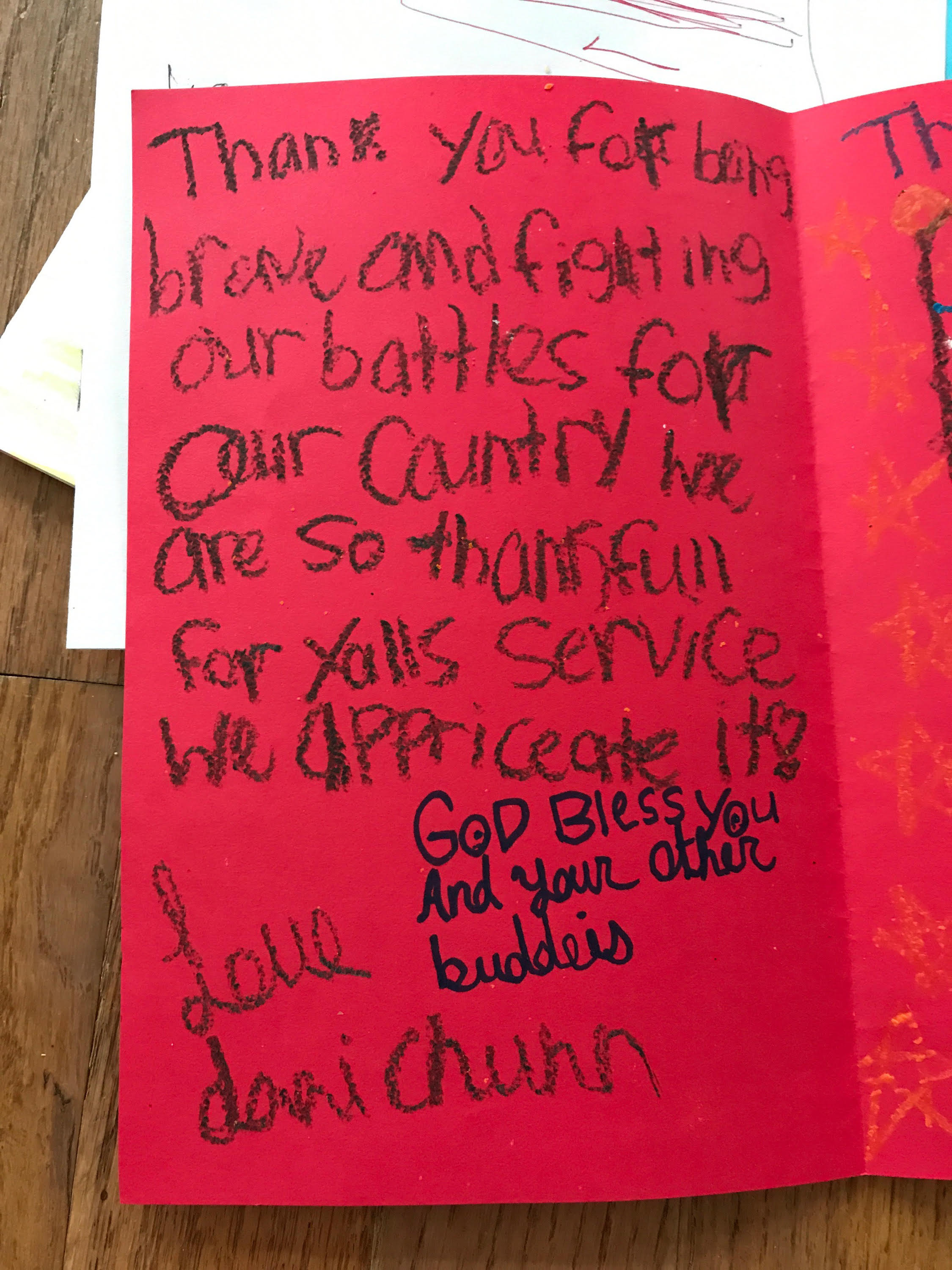 Family serves country by gathering greeting cards for soldiers ...