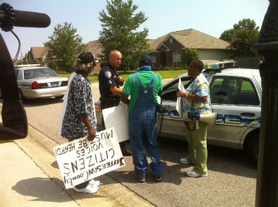 Cooper Green protesters march in Trussville neighborhood