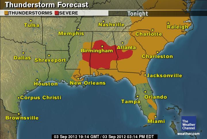 Hazardous weather possible this evening