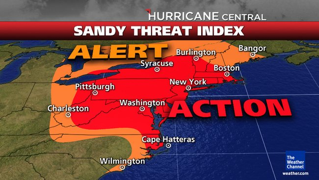 East Coast braces for impact from Sandy