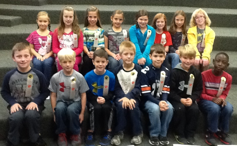Paine Intermediate November Students of the Month