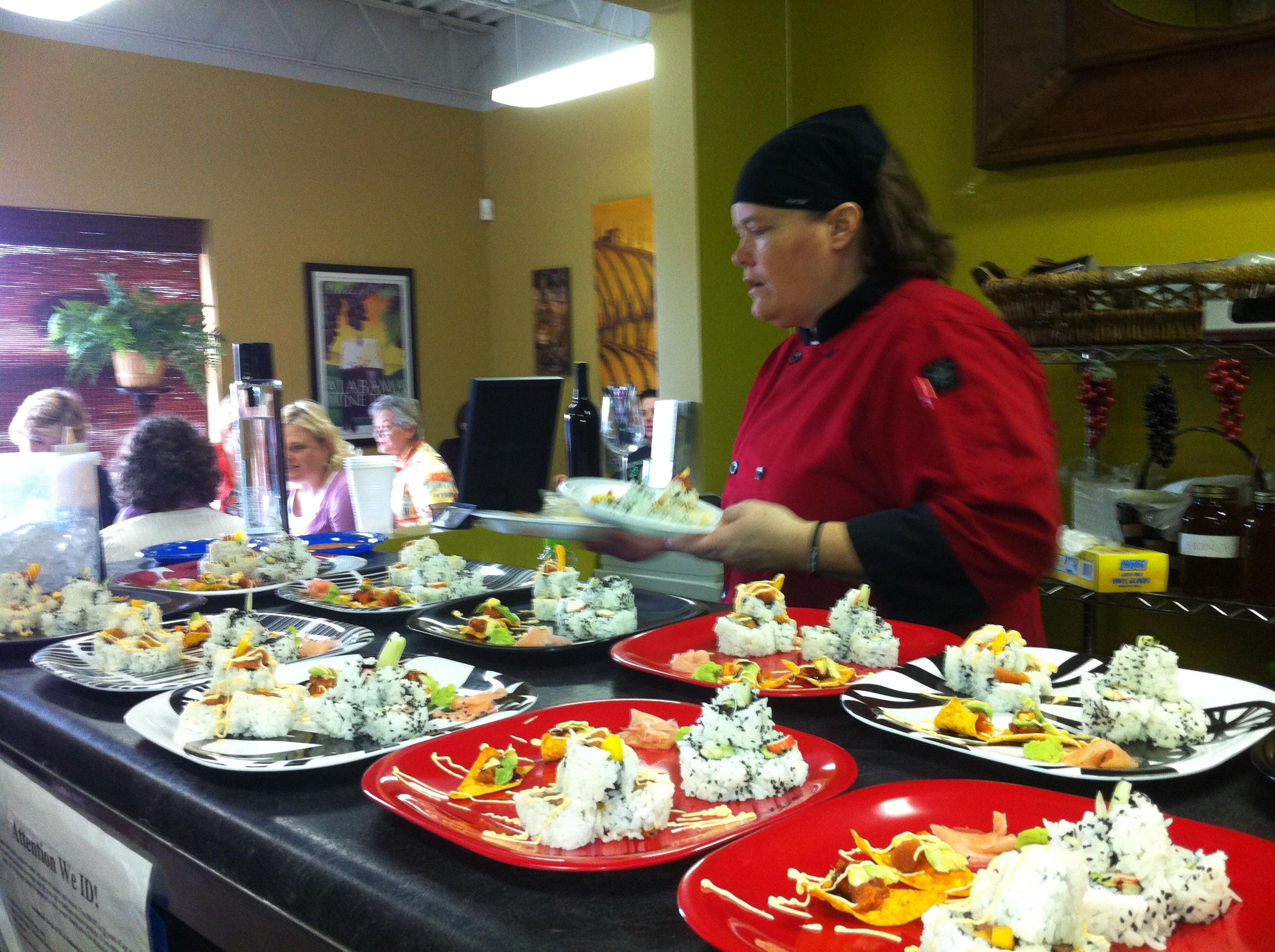 Local chef teaches sushi making in Birmingham
