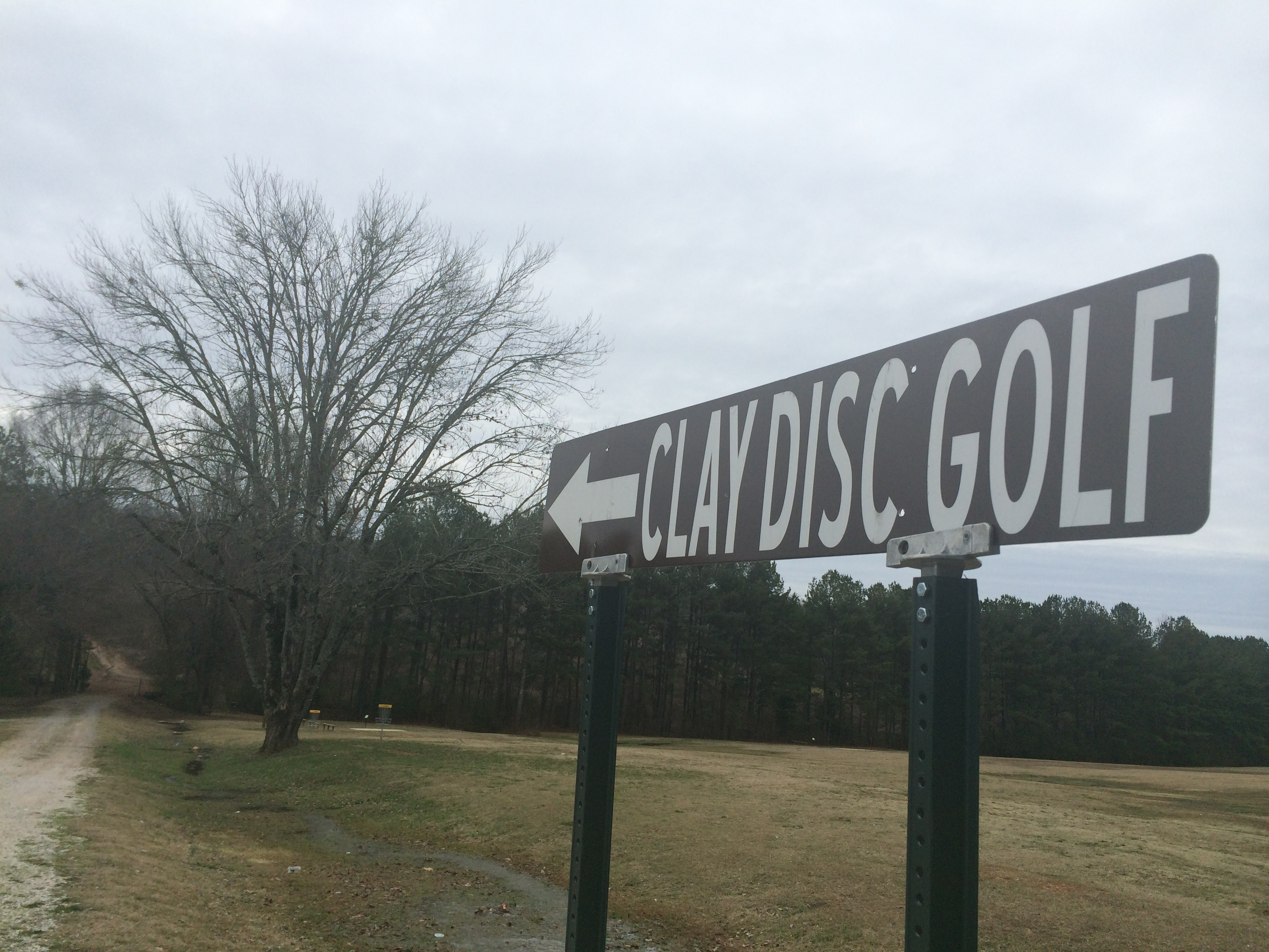 Clay disc golf course, still in infancy, already one of top courses around
