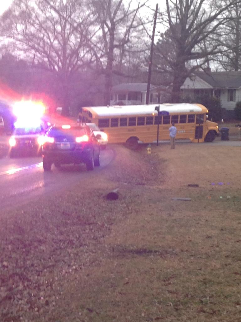 Disabled school bus snarls rush hour traffic on South Chalkville Road