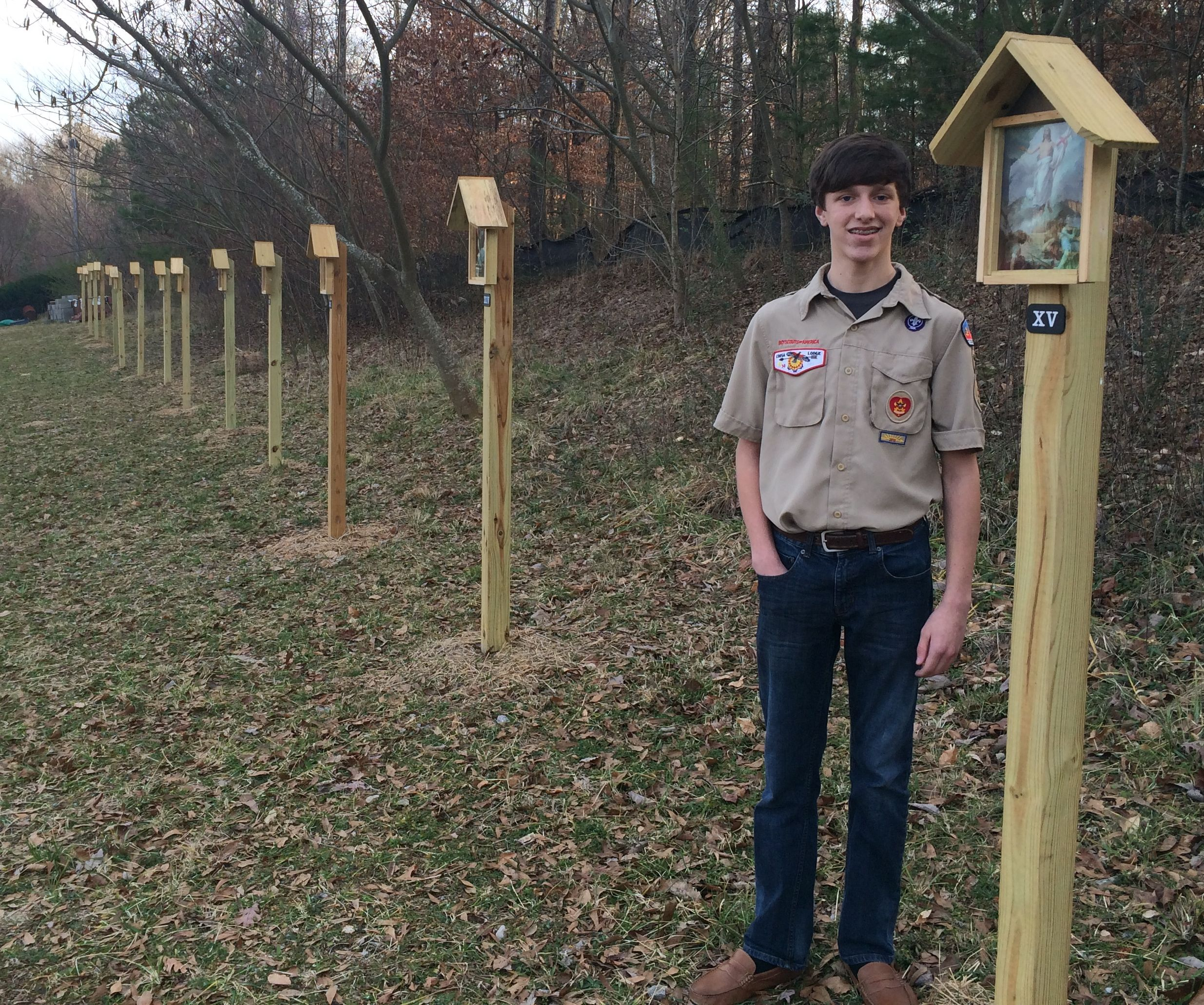Clay student completes Eagle Scout project