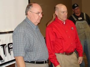 J.B. Elliott (left) with ABC 33/40 meteorologist James Spann (right). Photo via Alabamawx.com