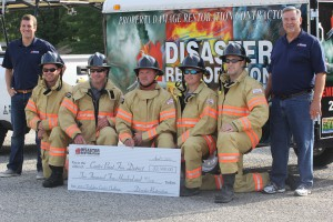 Local fire department receives donation