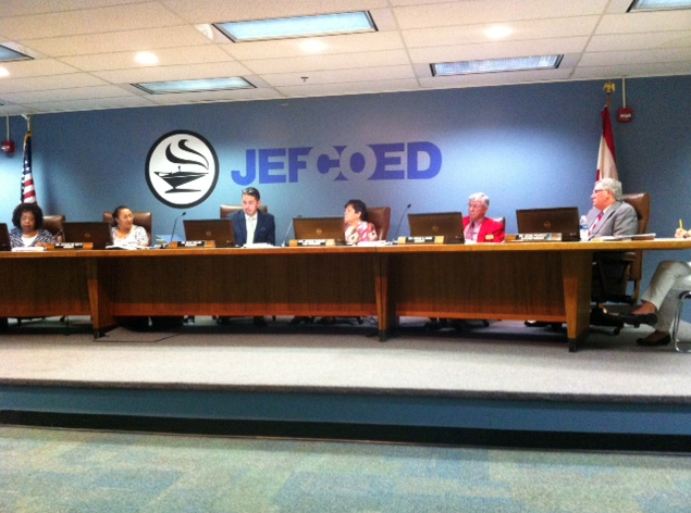 JEFCOED board meeting agenda for Tuesday