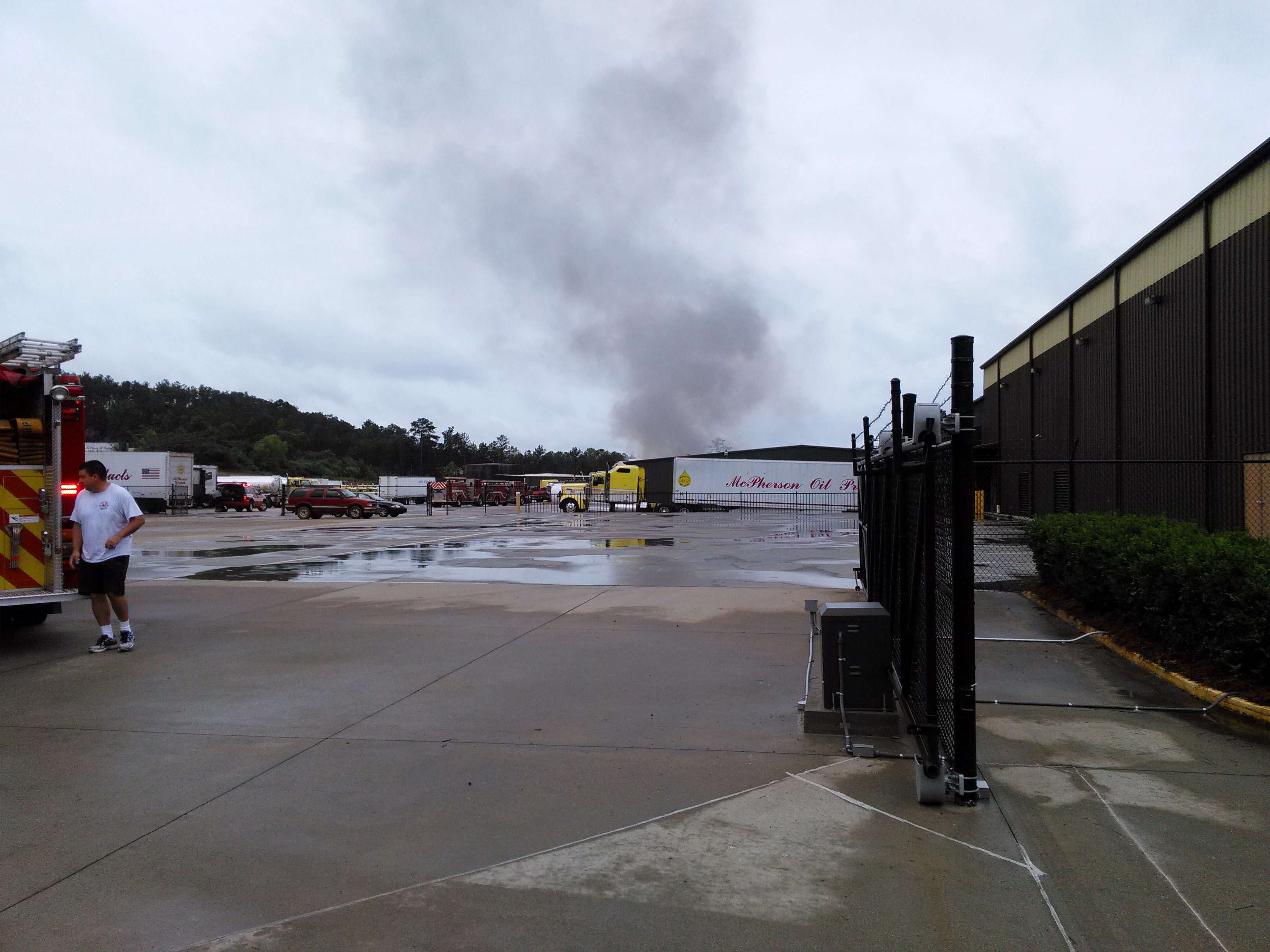 Saturday fire at McPherson Oil Products