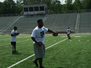 Local NFL RB tells kids to persevere