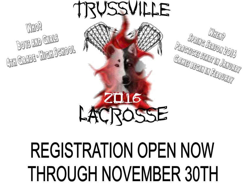 Trussville lacrosse registration opens