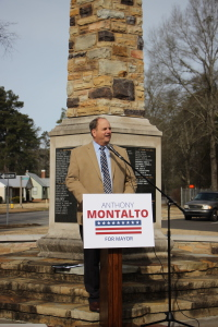 Anthony Montalto announcing his plans to run for Mayor in 2016. submitted photo