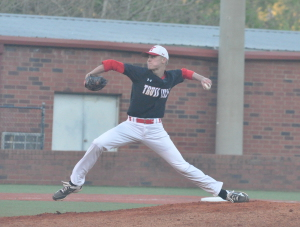 Carson Skipper got the win in a complete game effort on Tuesday night. Photo by Kyle Parmley