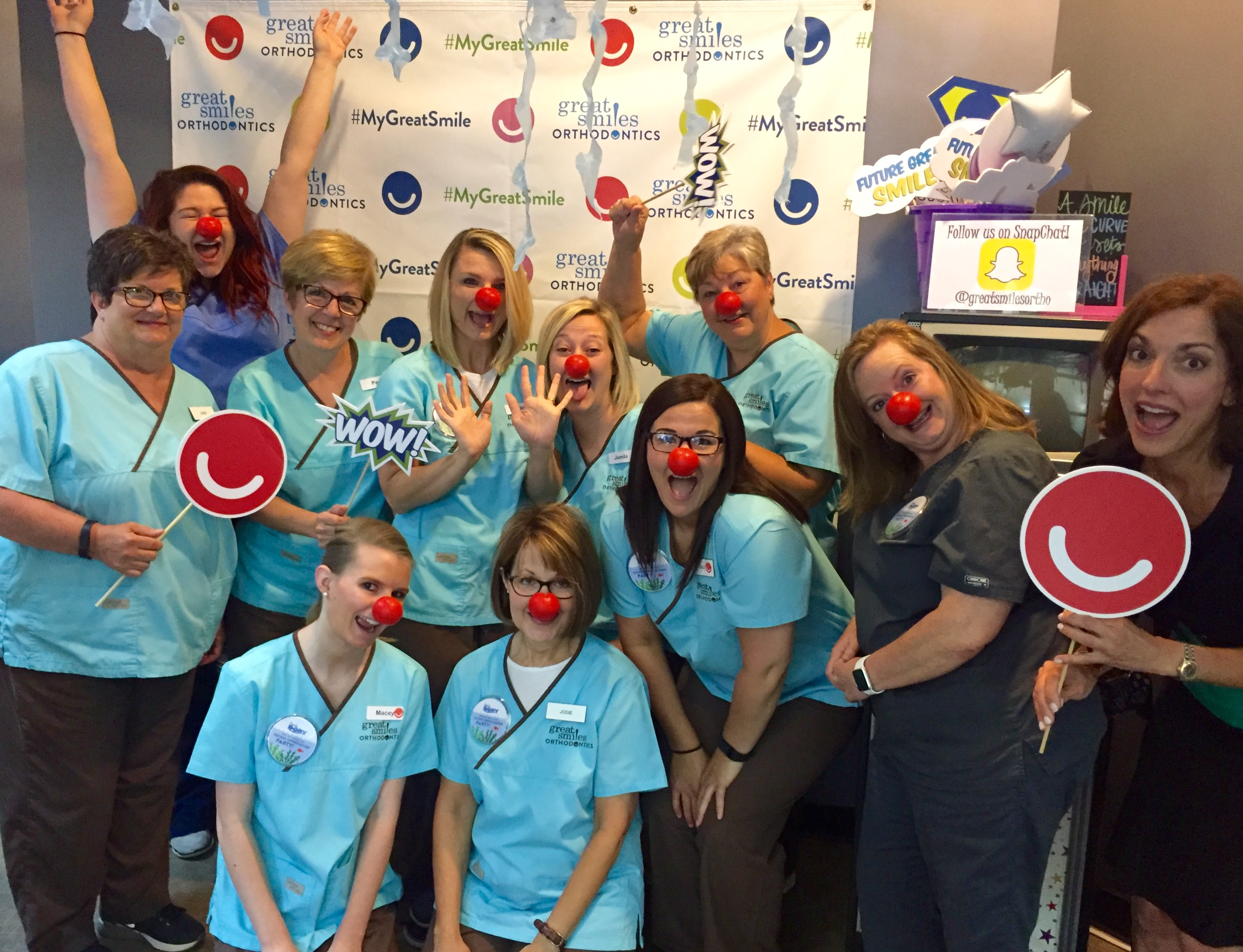 Great Smiles Orthodontics gets silly for Red Nose Day
