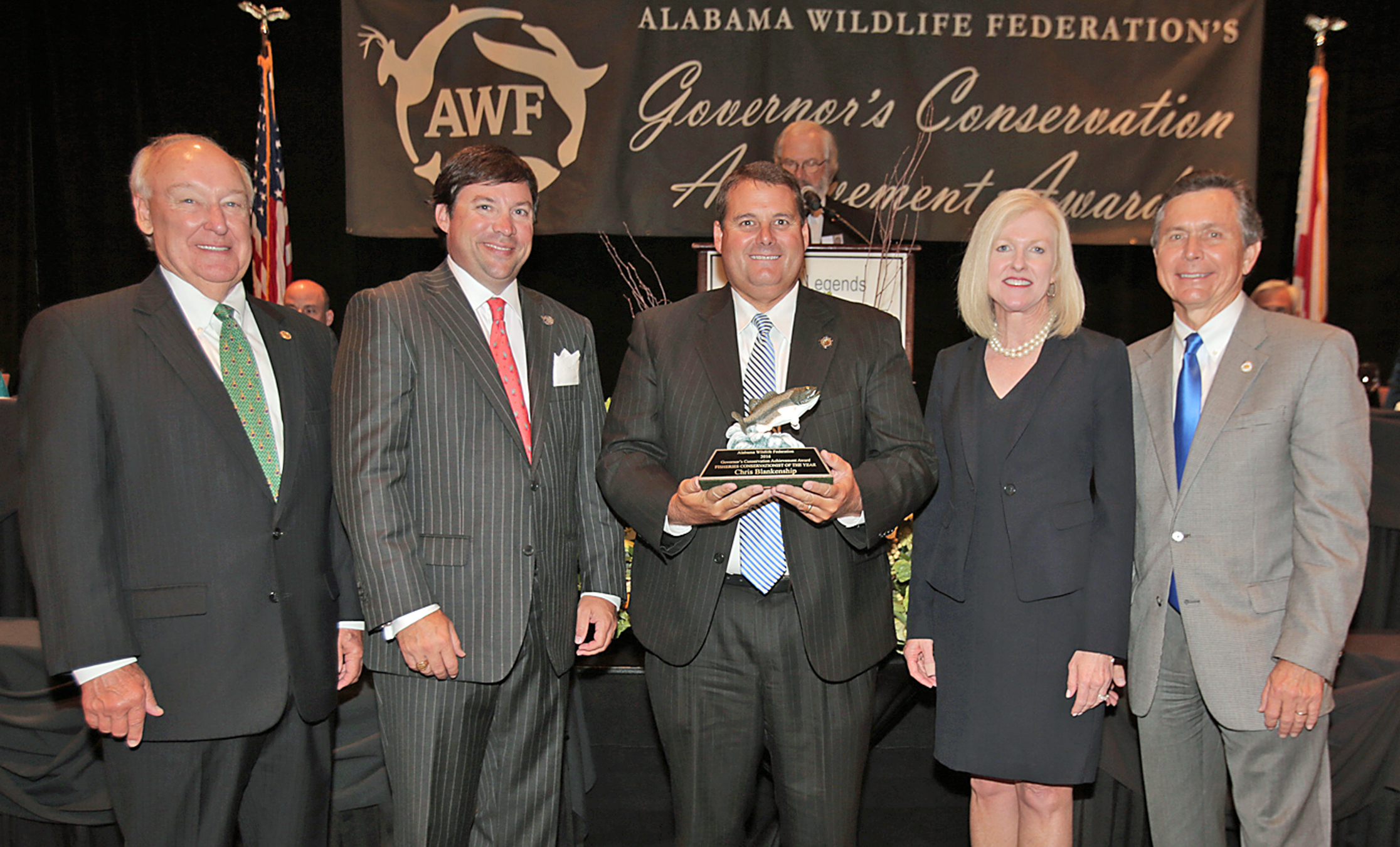 AWF presents Fisheries Conservationist of the Year award