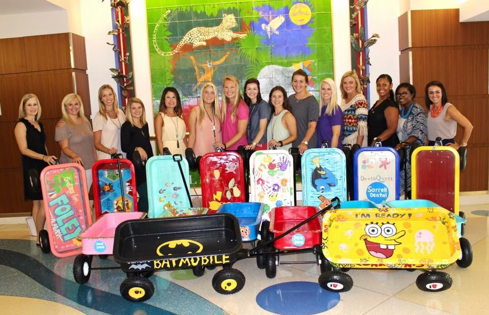 Sarrell Dental donates 17 wagons to Children's of Alabama