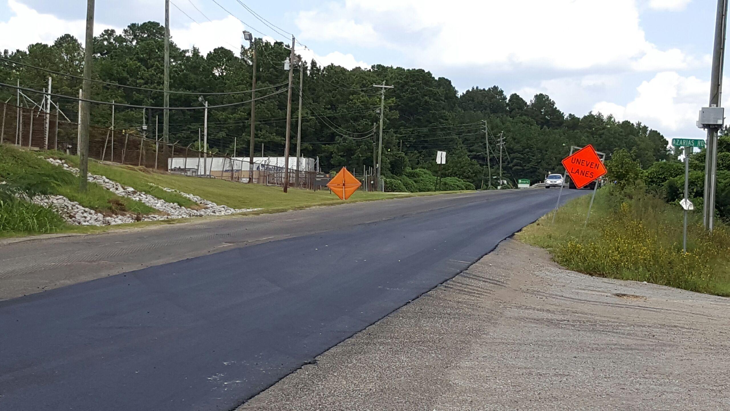 Floyd Bradford Road paving project underway