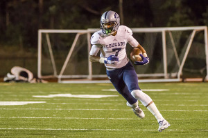 CCHS WR Nico Collins had 6 catches for 113 yards and a touchdown against Gardendale Friday night. File photo