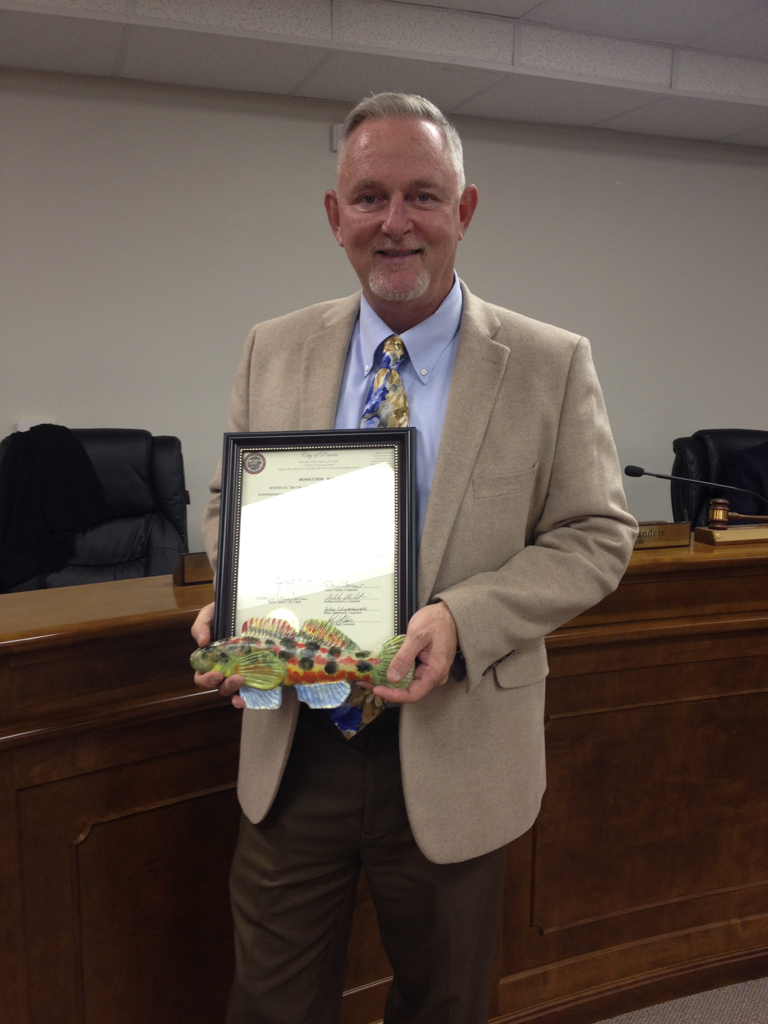 Pinson Council recognizes Joe Cochran for 12 years of service
