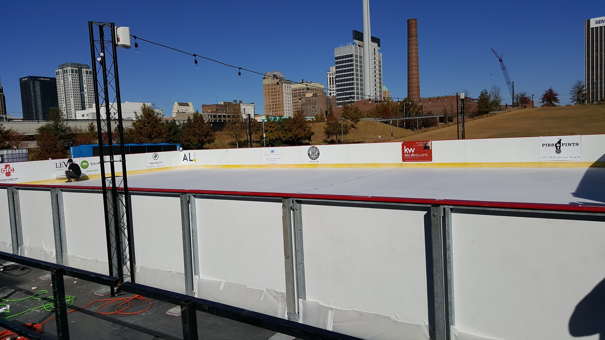 Railroad Park ice rink to open Friday for holiday season