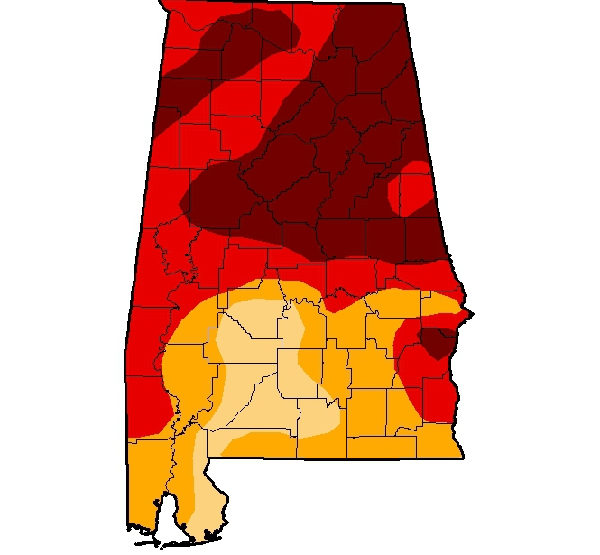 Disaster loans available in Alabama following Nov. drought declaration