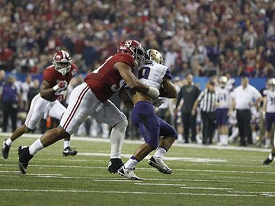 Alabama stifles Washington, heads to championship game