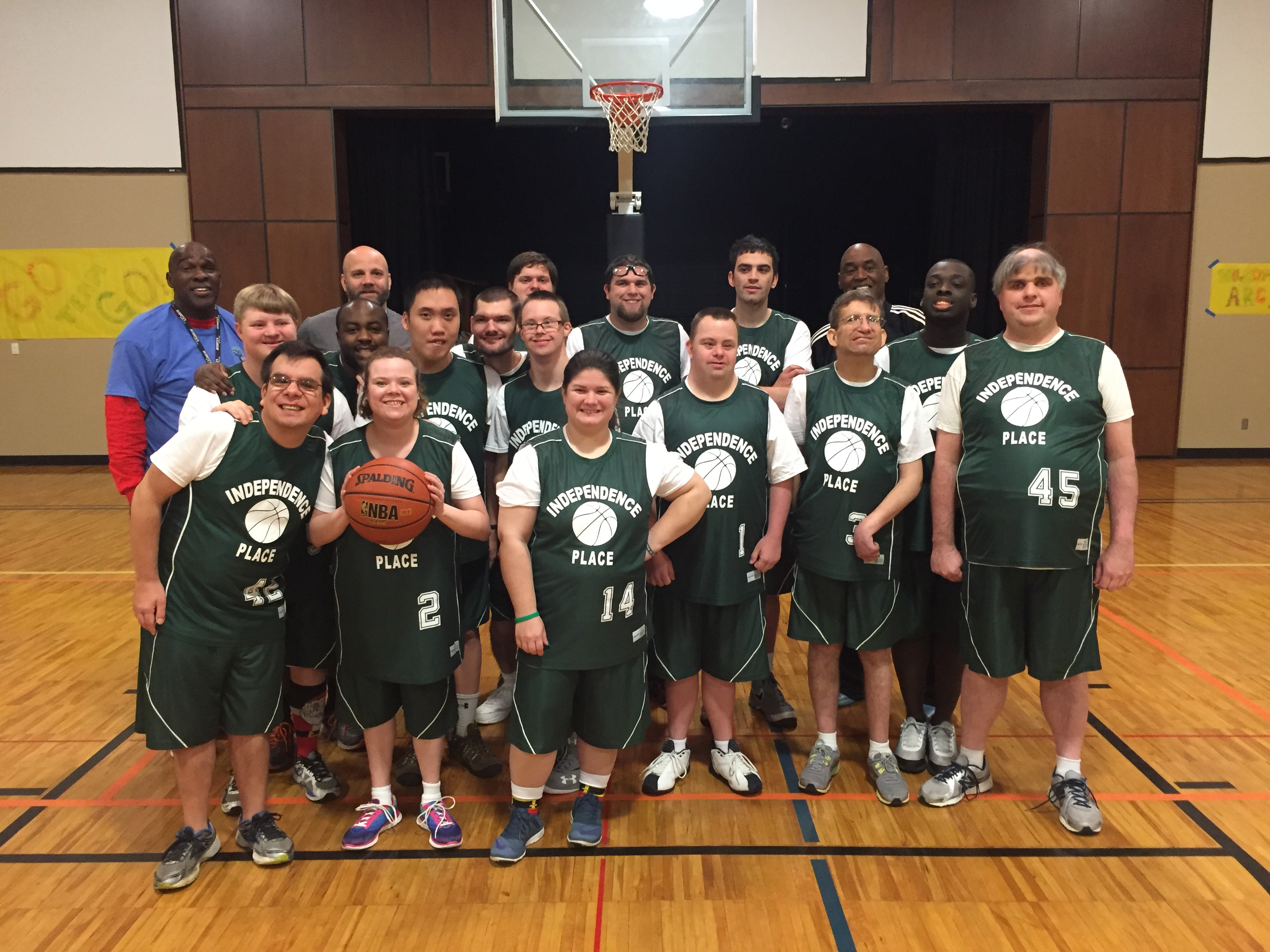 Independence Place's new basketball program for adults that have special needs is a slam dunk