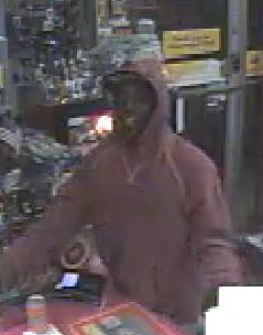 Suspect sought in convenience store robbery, believed to be connected to other recent robberies