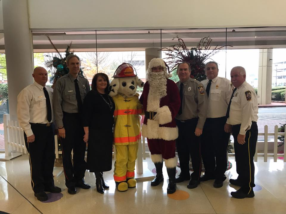 CPFD delivers red wagons to Children's Hospital