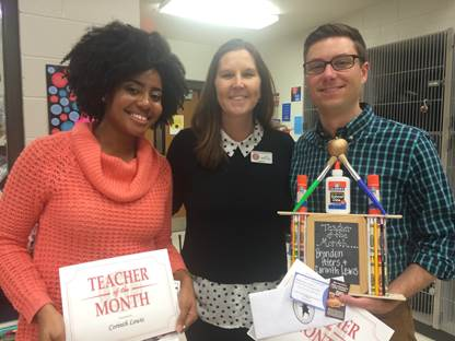 HTMS names December Teachers of the Month