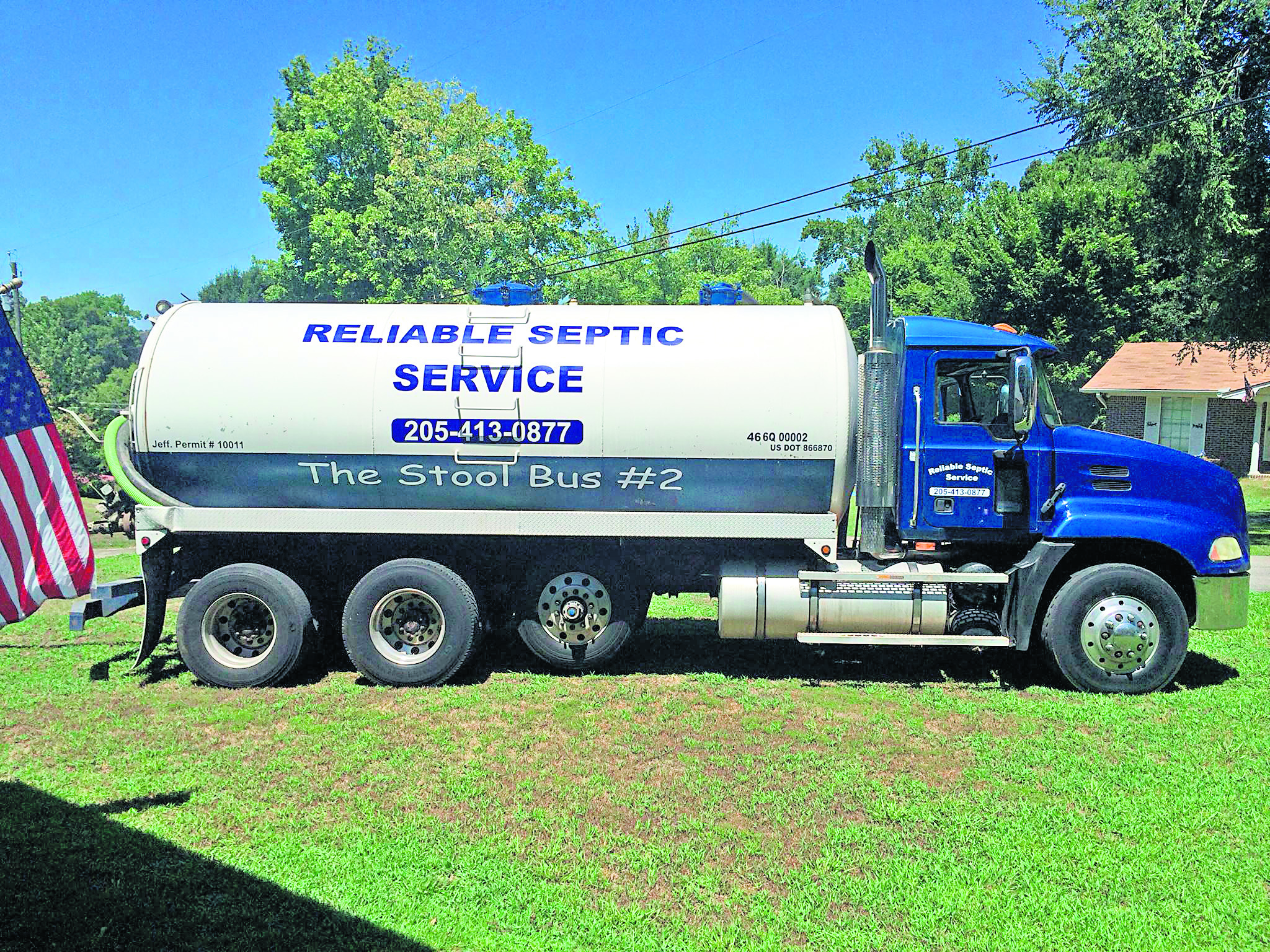 Reliable Septic doesn't mind getting dirty to serve you