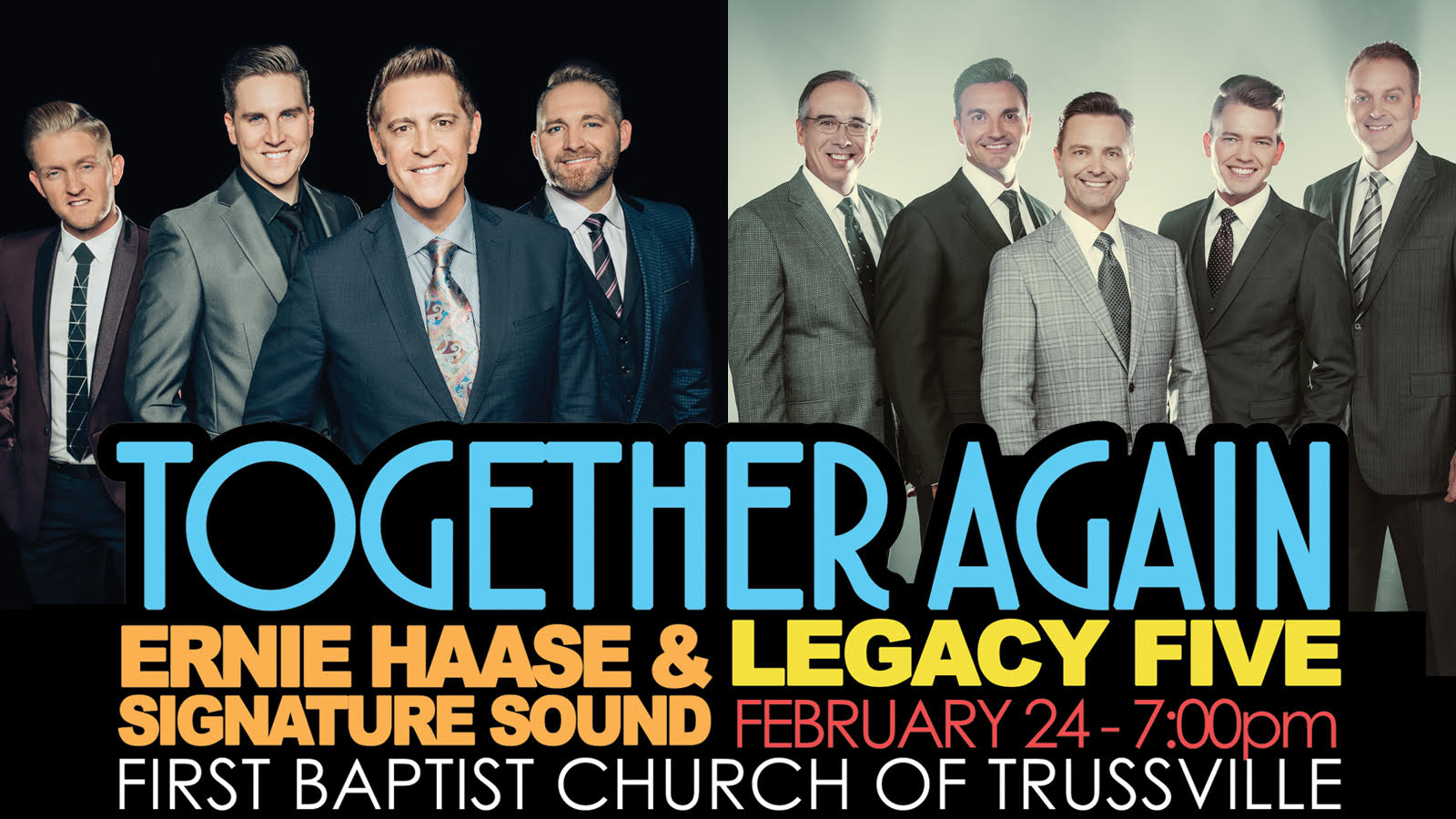 Legendary gospel groups coming together for concert in Trussville