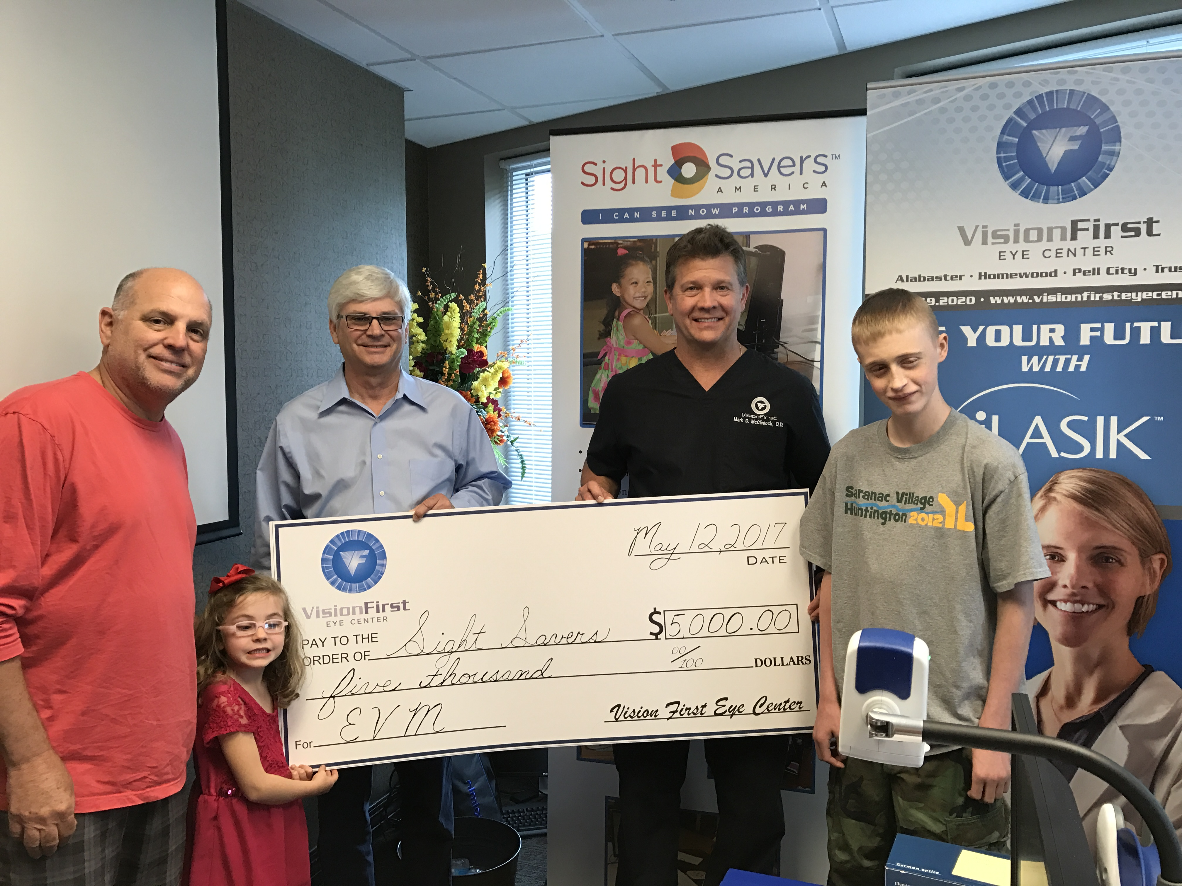 VisionFirst donates $5,000 to Sight Savers America for children's eye care