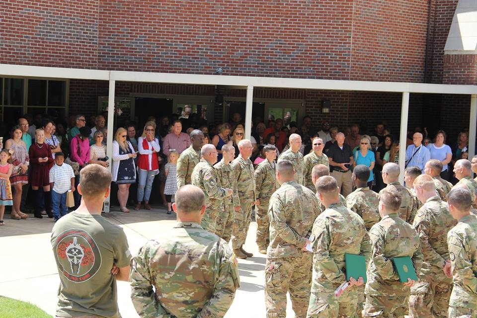Ceremony held for local soldiers in the 208th Chemical Company out of Springville