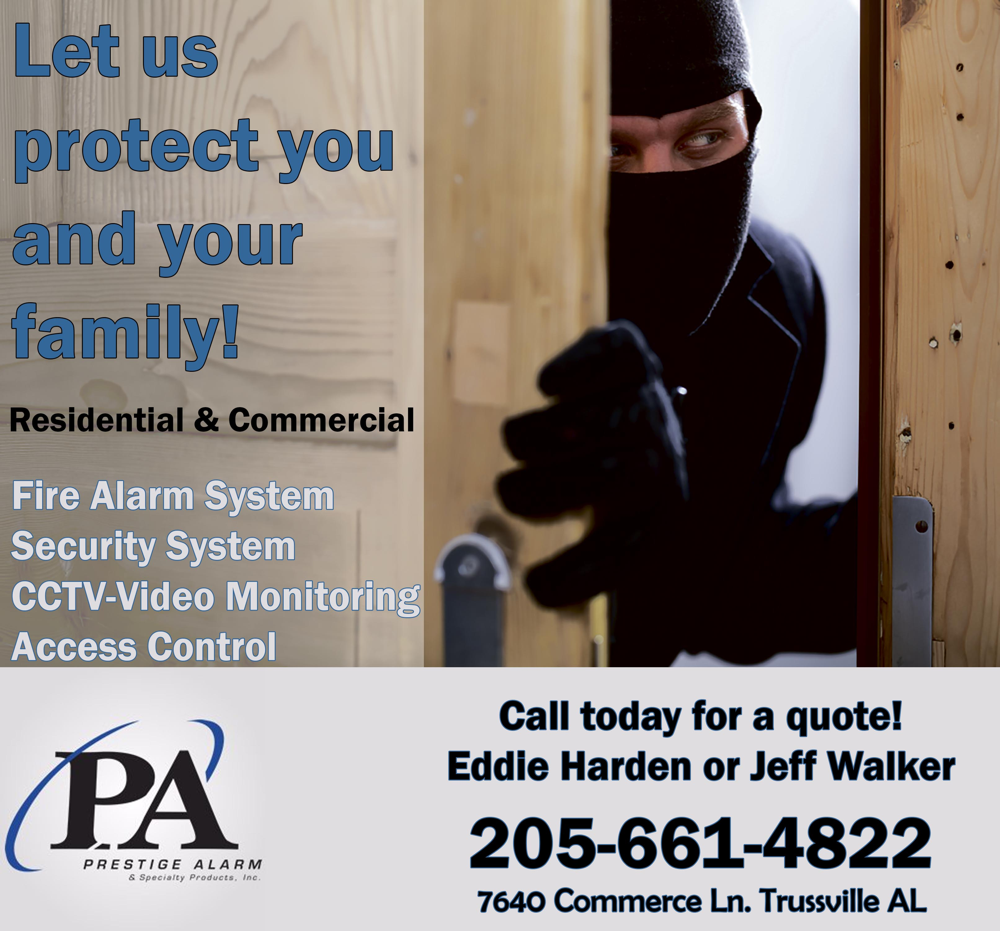 Prestige Alarm protects homes and businesses with unique technology and helping hearts