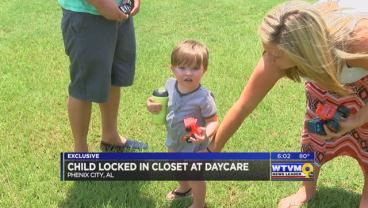 Phenix City mother discovers son locked in closet by daycare worker