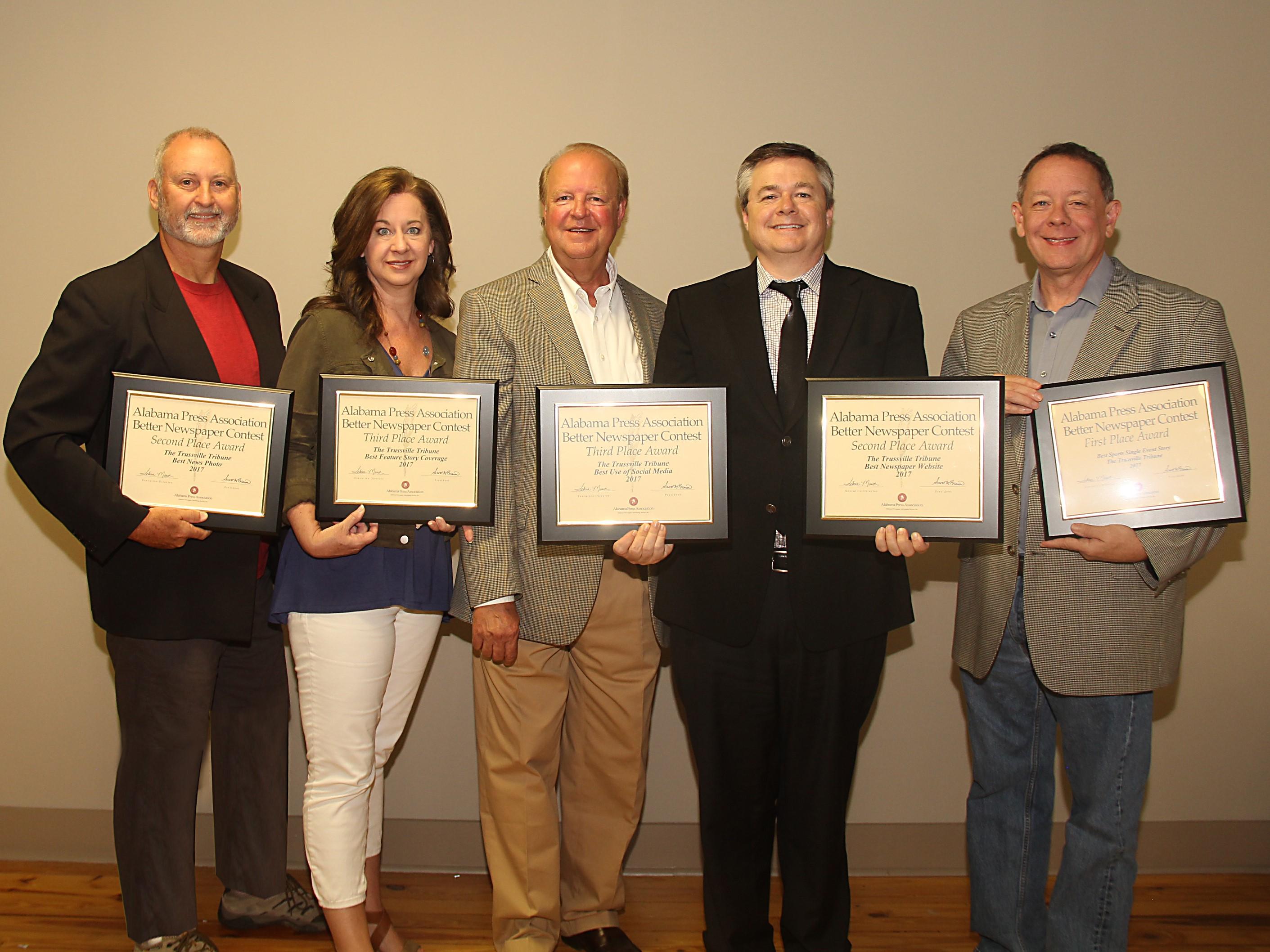 The Trussville Tribune wins five awards from Alabama Press Association