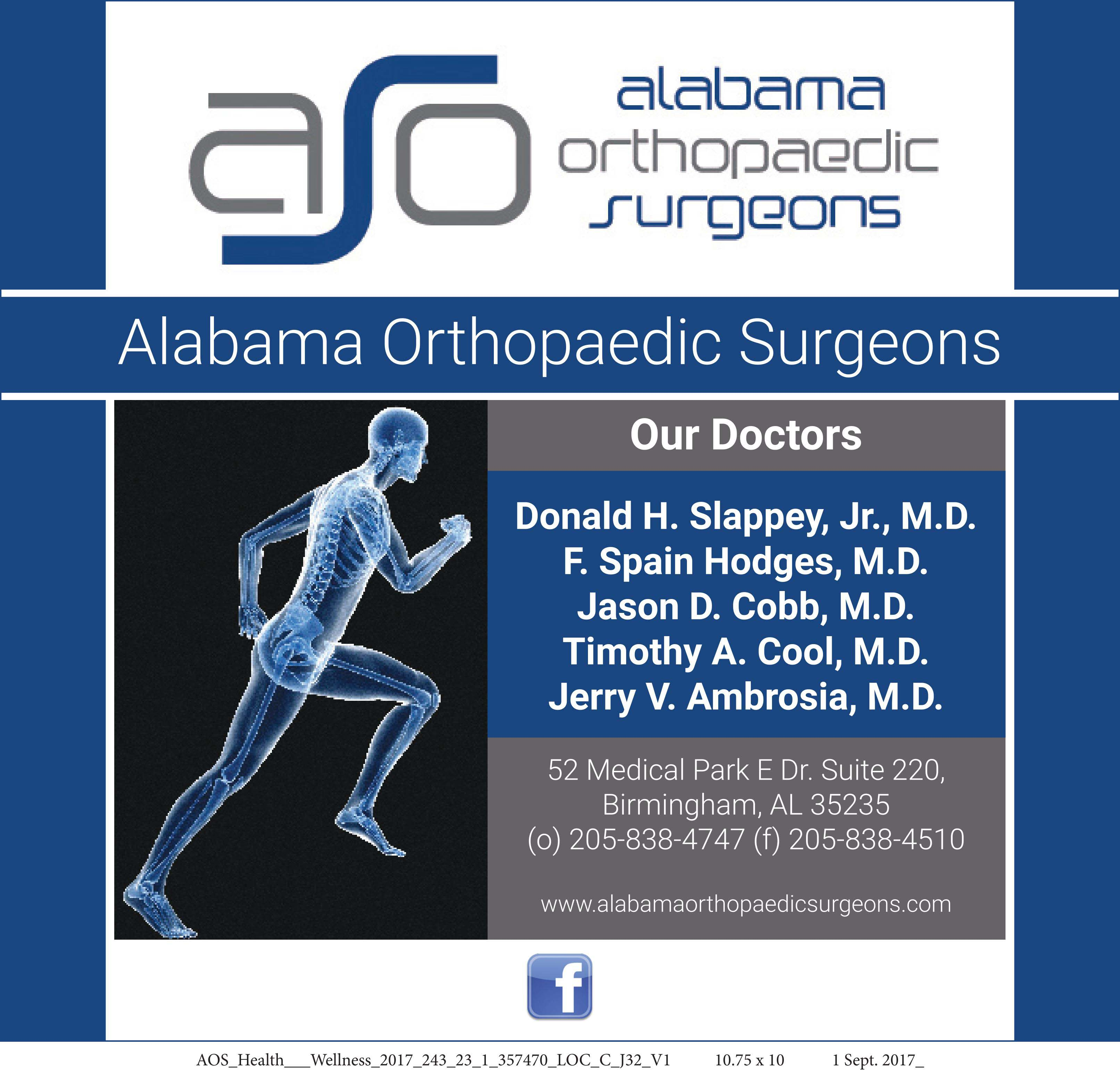 Alabama Orthopaedic Surgeons devoted to providing high-quality patient care