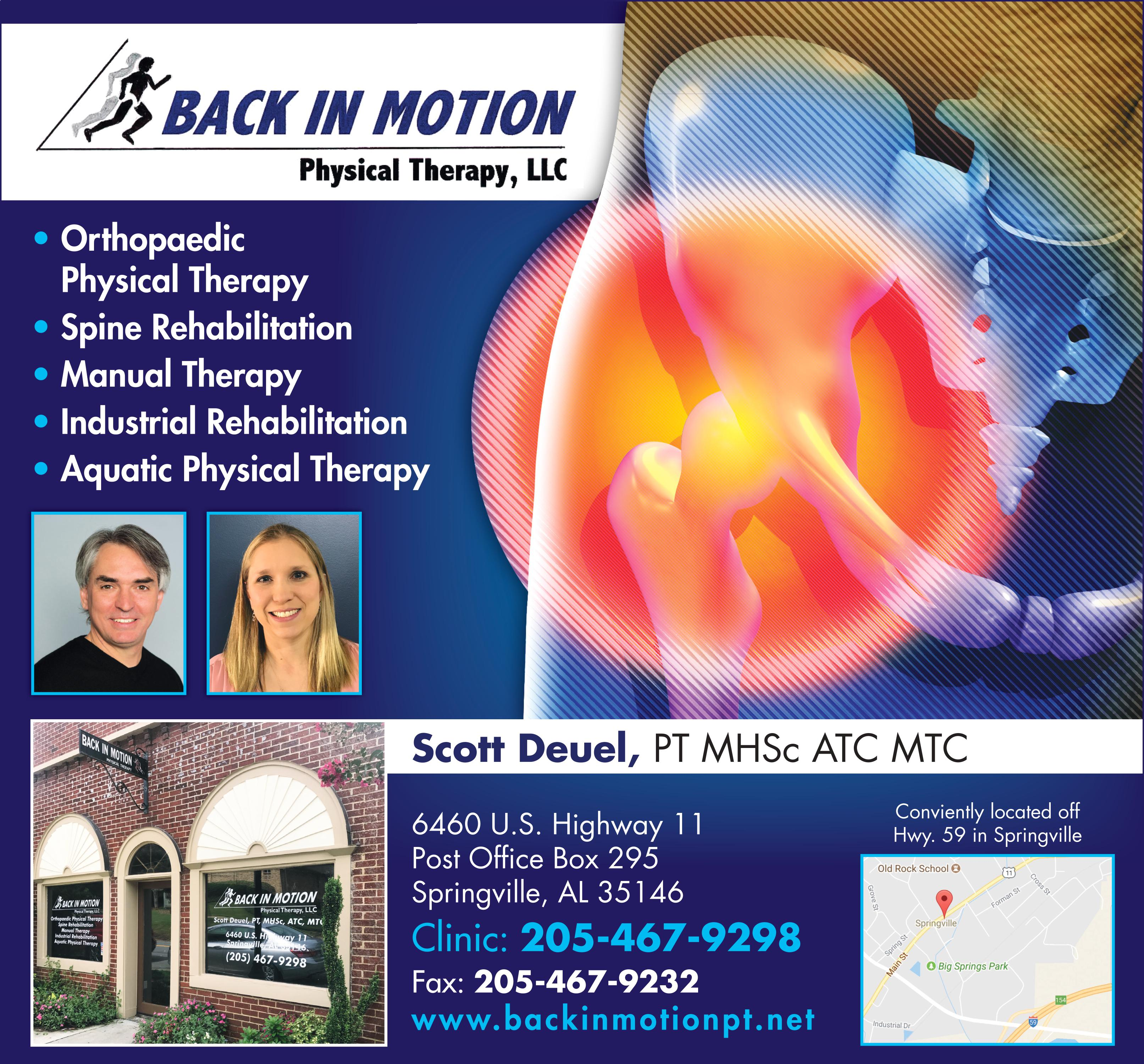 Back In Motion strives to make its clients feel comfortable