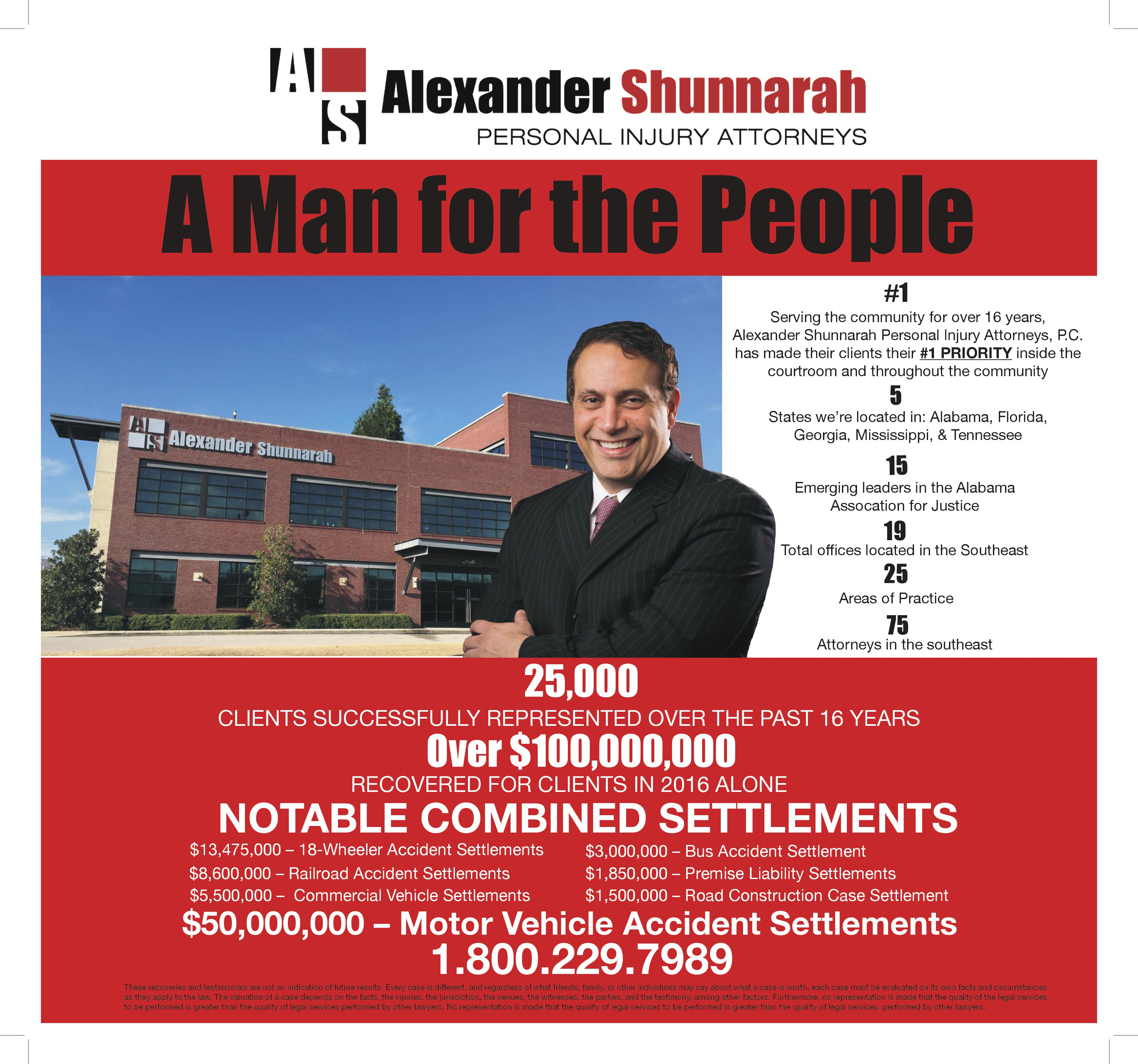 LEGAL MOTION: Alexander Shunnarah a firm believer in activity; in mind, body and spirit