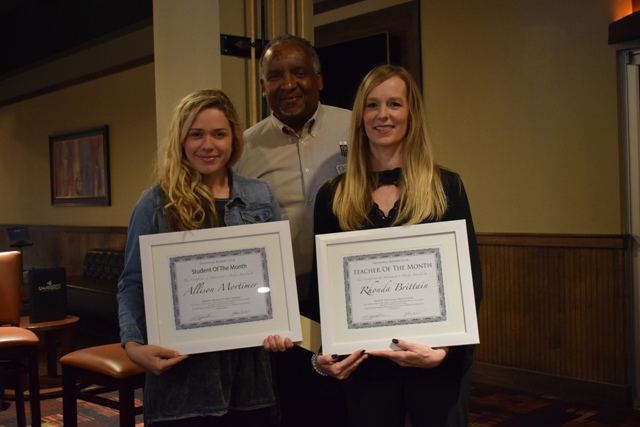 Trussville Rotary Club announces HTHS Student and Teacher of the Month winner for October
