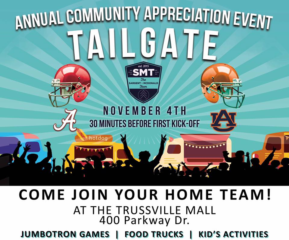 Brik Realty team to present Tailgate event for Trussville community on Nov. 4