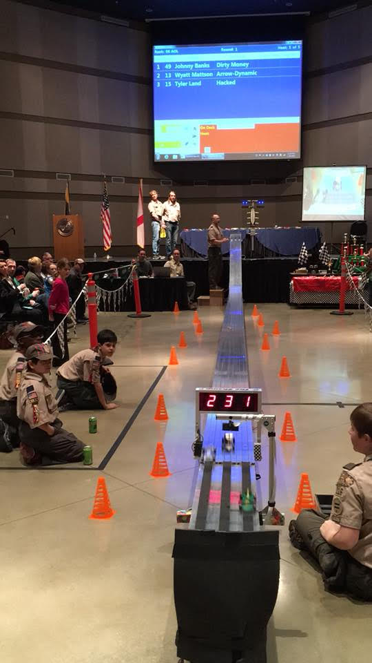 And they're off! Pinewood Derby this Saturday at the Trussville Civic Center