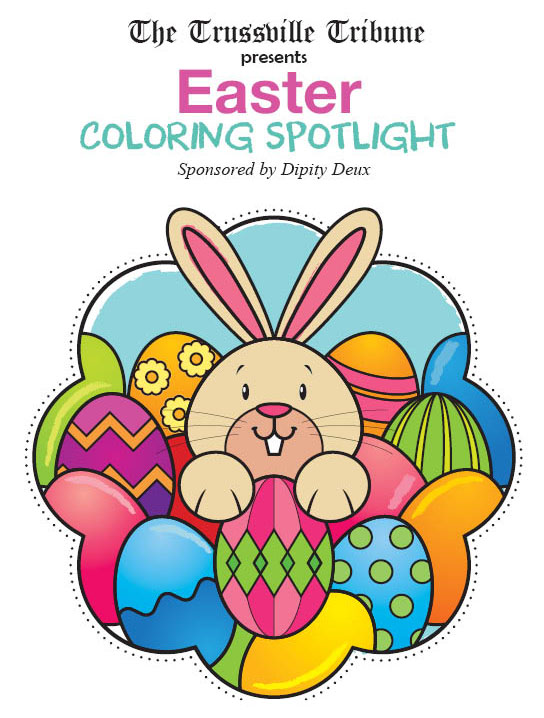 Meet Trussy this month's Easter Coloring Spotlight