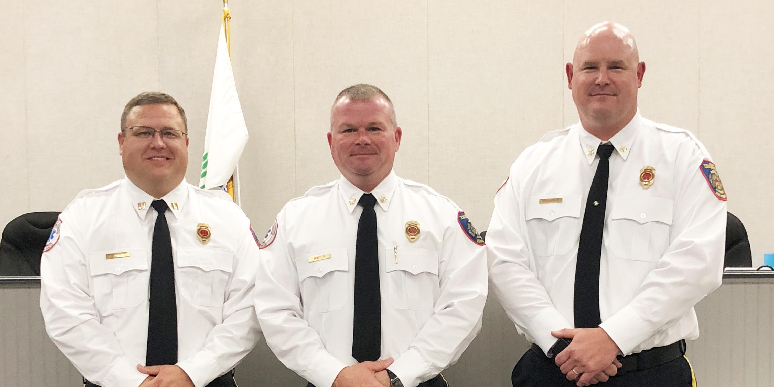 Trussville City Council names two assistant fire chiefs